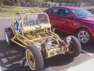 Who forgot to tell me it was drive your dune buggy to work day?