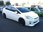Day 3 begins with this super-clean and—dare we say it?—kinda bad-ass Five Axis Prius