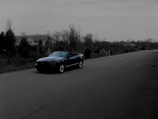 2010 Mustang Convertible Front B W Jpg File