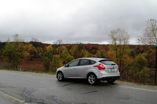 Traverse City bound at the peak of the Fall colors.