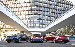 2013 Toyota Avalon Limited Nissan Maxima Sv Hyundai Azera Front End