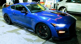 """A """"base"""" (no options) GT500 in Ford Performance Blue"""