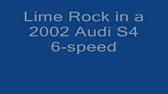 Audi S4 track driving at Lime Rock (first session)