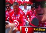 Scott Dixon's wife Emma in Victory Lane