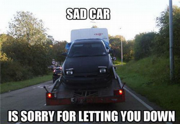 Sad Car Is Sad