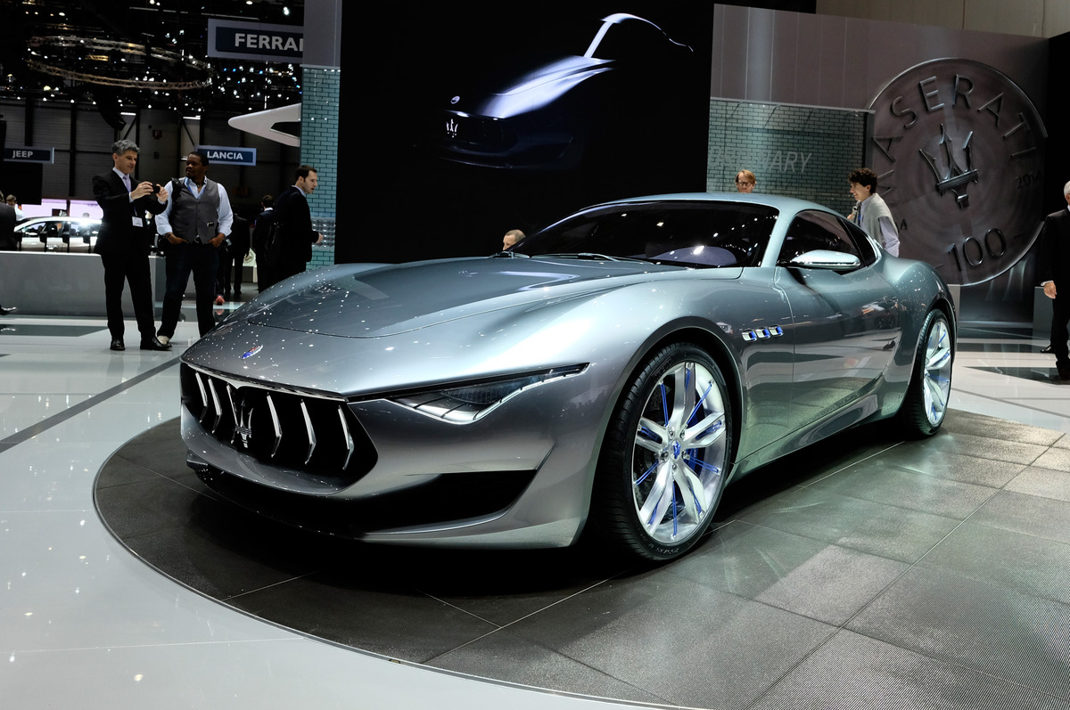 Maserati Alfieri Concept Show Floor Front  Side View