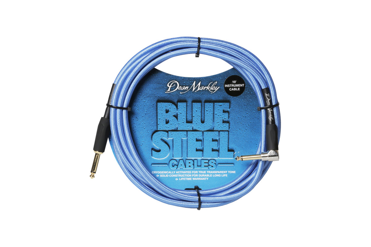 10 Ft. Instrument Cable - Right Angle - Dean Markley