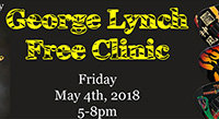 May 4: George Lynch ESP Clinic at Island Music Co.