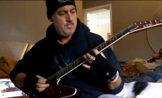 Guitarist Gerard Di Salvo