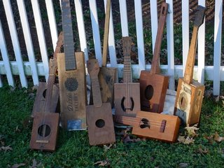 Cigar Box Guitar Collection