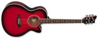 204469 1 Esp Acoustic Guitar 5 Series Xac5e See Thru Red Sunburst Xac5estrsb