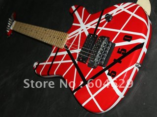 Wholesale Very Beautiful 5150 Classic Red Color White Bars Electric Guitar
