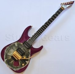 Esp Emppu Ev Iii Electric Guitar In See Thru Purple With Emblem Graphic 105029big