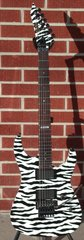 Esp  Custom Ordered Standard Series M Ii Ntb  Zebra Graphic  W Emg 81's 6 String Electric Guitar