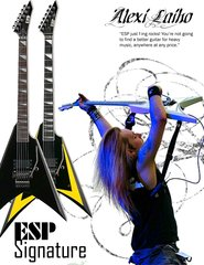 Alexi Laiho Esp Guitar Ad By Mc Killface