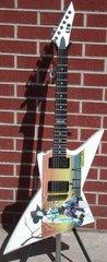 Ltd 2009 Ex Outlaw Graphic 6 String Electric Guitar