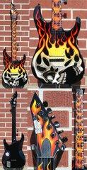 Esp Custom Shop Screaming Skull Graphic 6 String Electric Guitar