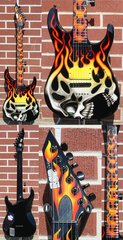 Esp Custom Shop Screaming Skull Graphic 6 String Electric Guitar