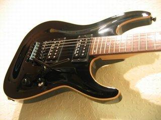 Esp Mh Deluxe Black Guitar