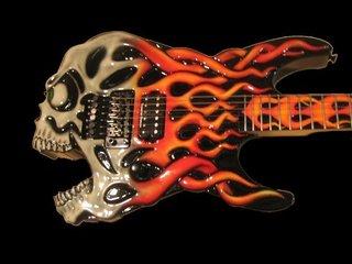 Esp Screaming Skull Guitar Jimmy Diresta 1 Black