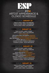 NAMM 2014 Artist Appearance Schedule