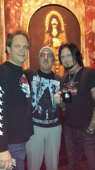 Me Eddie Trunk and Jason Hook from Five Finger Death Punch