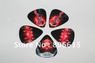 0 7mm Guitar Picks For The Skull And Flame Picture Design Guitar Picks As Displayed Of