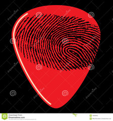 Fingerprint Guitar Pick 16836902