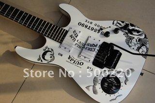 Esp Kirk Hammett Ouija White Electric Guitar Esp Guitar Ebony One Piece Body In Stock