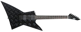 The Esp Guitars Ex Diamond Plate 6 String Electric Guitar Black