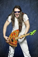 Andrew W.K ESP Guitars custom built the Pizza Guitar
