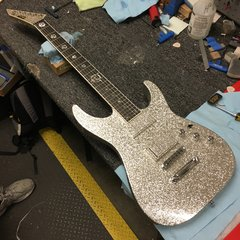 ESP Custom Shop M-II Silver Sparkle