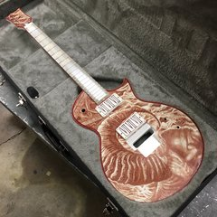 Gary Holt's ESP Eclipse painted in his blood