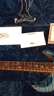 Prs 30th anniversary faded royal blue 2015 ps #4235