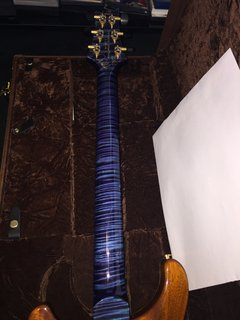 2014 Aqua violet private stock neck in Aqua violet matching the quilted maple top