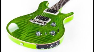 P22 elekteic wasabi green with lime green back neck headstock highly figured wide flamed maple top with piezo 2013 custom order