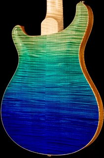 Prs artist Hollowbody II in flame blue fade 2015 in maple neck piezo n custom artist grade h2 Prs nitro finish