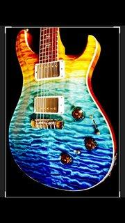 Prs private stock 2013 beach fade p24 custom guitar ps#4034