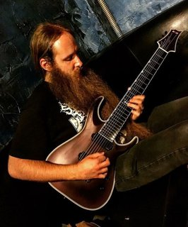 Andy Thomas (Black Crown Initiate) playing the E-II HRF NT-8B Deep Red Metallic Satin