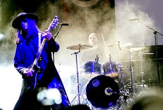 Gav King with Fields of the Nephilim in Poland headlining the Castle Party.