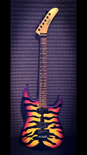 Natural Headstock Tiger #5 (Purple)