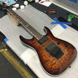 LTD MH-401 FR Dark Brown Sunburst