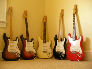 Group shot. These are the 1st 5 ESP 400's I'd purchased.