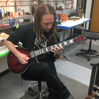 Mike Spreitzer (Devildriver) playing an ESP USA Eclipse in See Thru Black Cherry