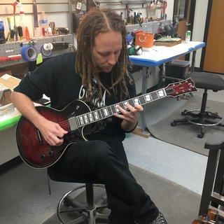 Mike Spreitzer (Devildriver) playing an ESP USA Eclipse in See Thru Black Cherry