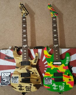 My twins - Kamikaze 4 & (unofficial) Kamikaze 5 7-strings!!
