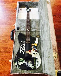 ESP KH-2 White Zombie