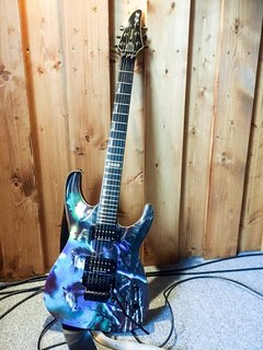 Andy Laroque's custom painted E-II Horizon (King Diamond)