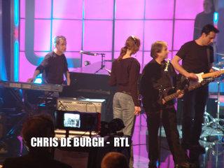 @ work on german tv together with chris de burgh