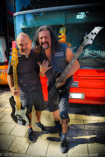 Steve Ungerbuehler (Metal Church) & Joey Vera (Armored Saint) with their LTD's